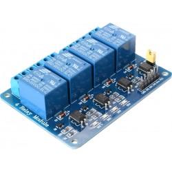 Módulo 4 Relés Optoacoplados Optoaislados TTL 5V