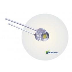 Pack 100 LEDs Blanco Frio Tipo Straw Hat Tipo Bombín 4.8mm