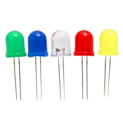 LEDs Difuso 10mm Colores