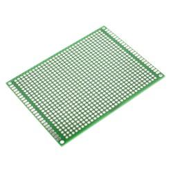 Placa FR4 PCB Perforada Verde Doble Faz Tamaño 7x9cm