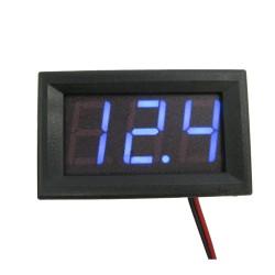 Voltímetro de Panel LED Azul para Chasis con Rango 0-30 VDC
