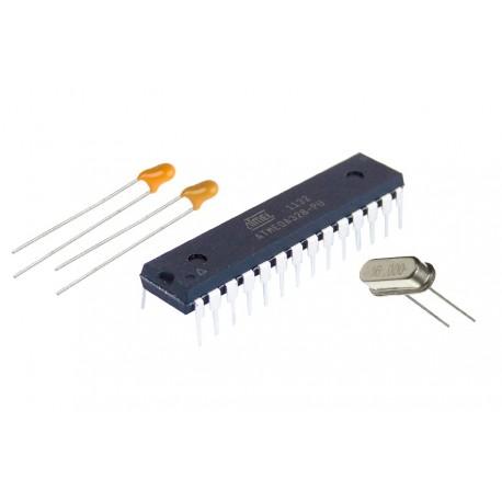 Atmega328P Cargado Bootloader UNO con Cristal 16MHz y 2 Capacitor 22pF