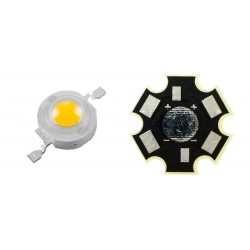 LED High Power 1 Watt Blanco Frio con Base Disipador Tipo Estrella