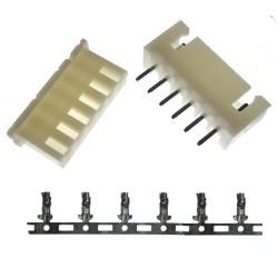 Juego de Conector de 6 Pines para PCB Modelo XH 2.54 6P