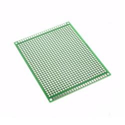 Placa FR4 PCB Perforada Verde 1 Faz Tamaño 7x9cm