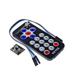 Kit Control Remoto IR 17 Botones con Receptor Infrarrojo HX1838 y LED IR