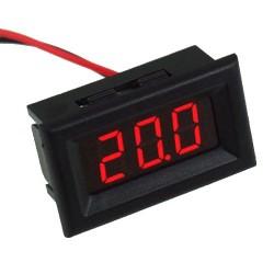 Voltímetro de Panel LED Rojo para Chasis con Rango 0-30 VDC