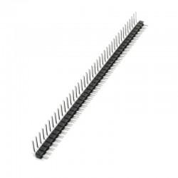 Pines Headers 90° Macho 40x1 Fila Separación de 0.1 Pulgadas 40x0.1'