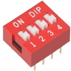 DIP Switch Interruptor de 4 Posiciones Individuales On/Off