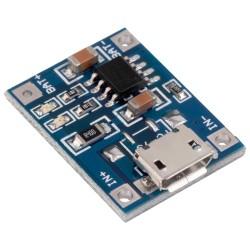 Módulo Cargador de Batería Li-ión LiPo Micro USB TP4056