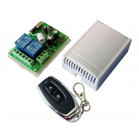 Módulo RF de 2 Relés con Control Remoto 2 Canales Alimentación directa a 85-250VAC