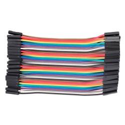 Cable Conexión Dupont 40 Unidades Largo 10cm Hembra Hembra HH